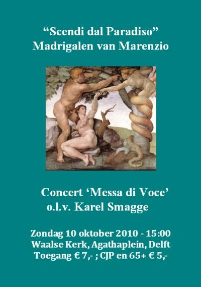 Concert Madrigalen van Marenzio